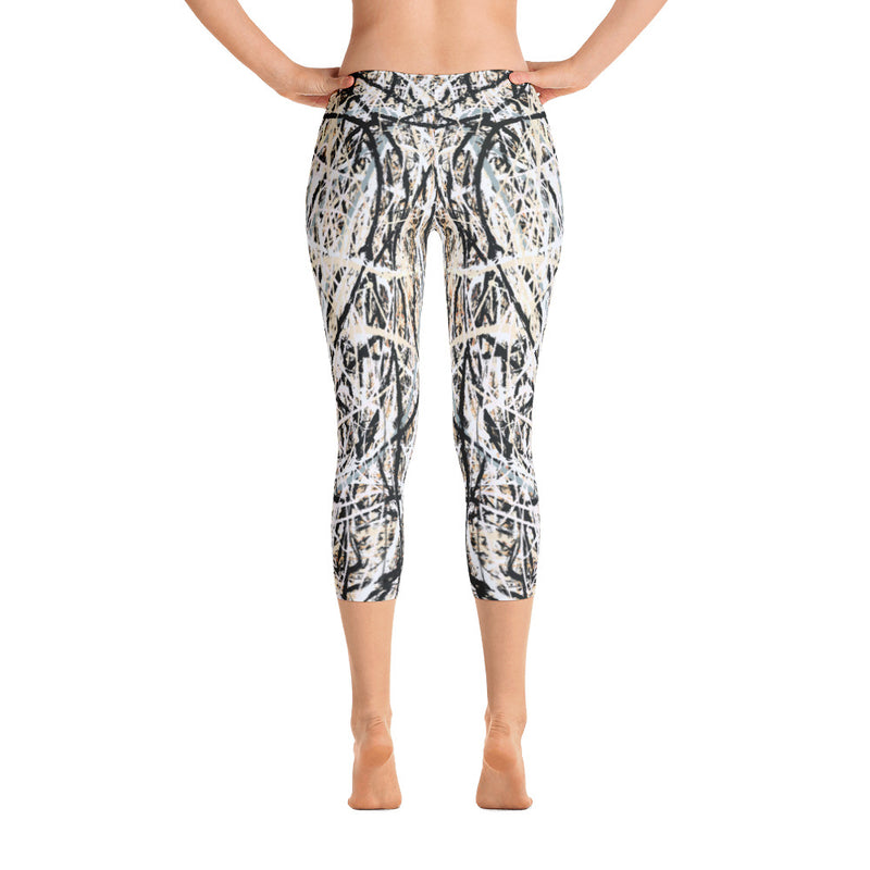 Abstract Capri Leggings front view from Teexpression