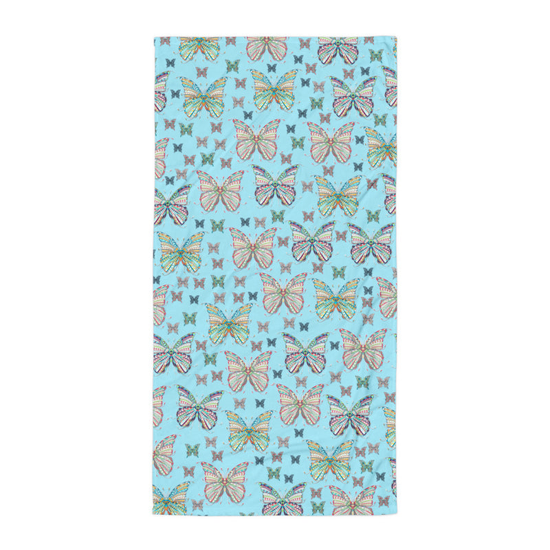 Butterflies Sublimated Beach towel