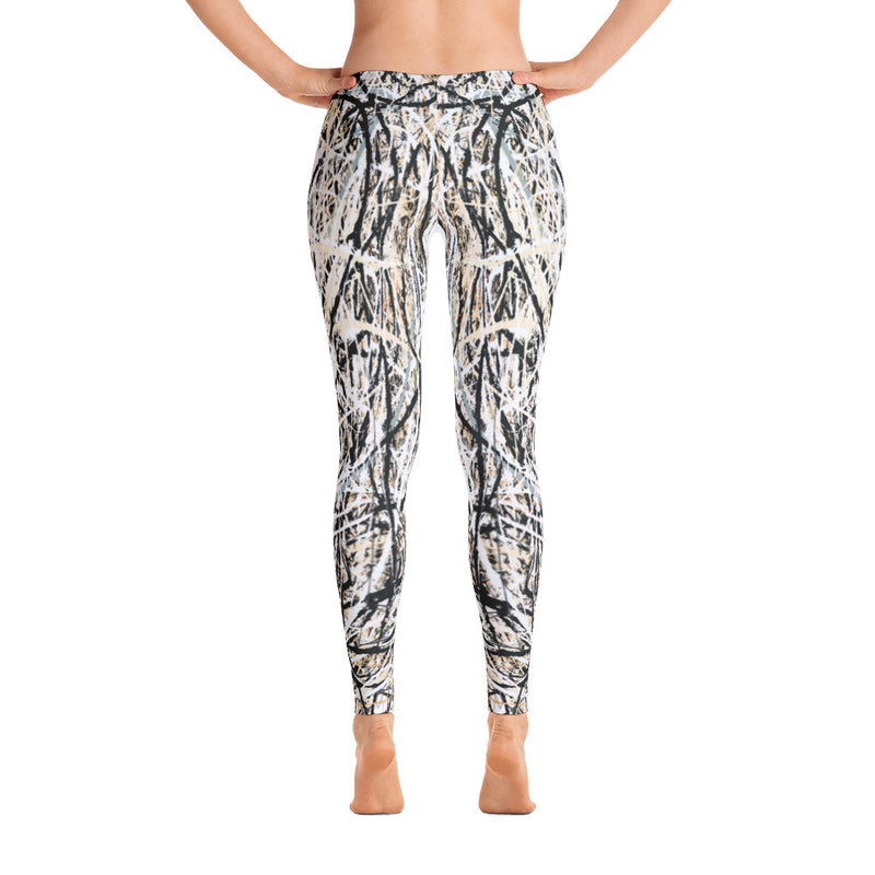 Abstract leggings front view, from Teexpression