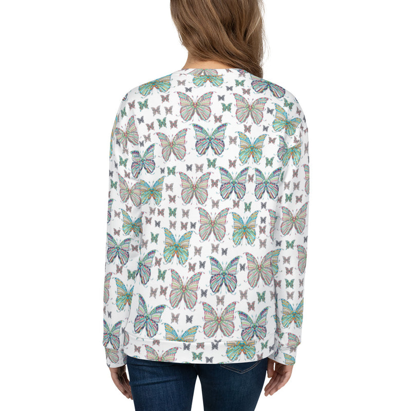 Butterflies All-Over Print Unisex Sweatshirt