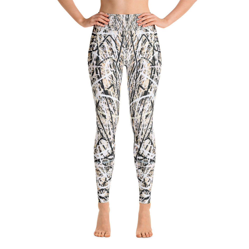Abstract yoga leggings front view from Teexpression