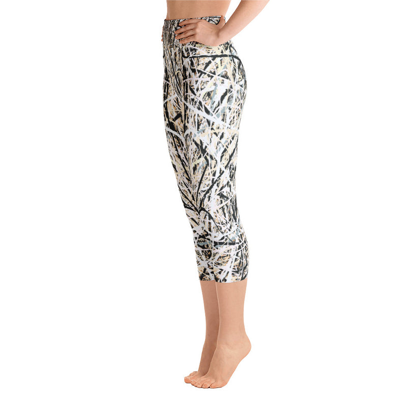 Abstract yoga capri leggings front view from Teexpression