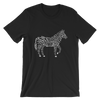 Bone striped Zebra in Black t-shirt