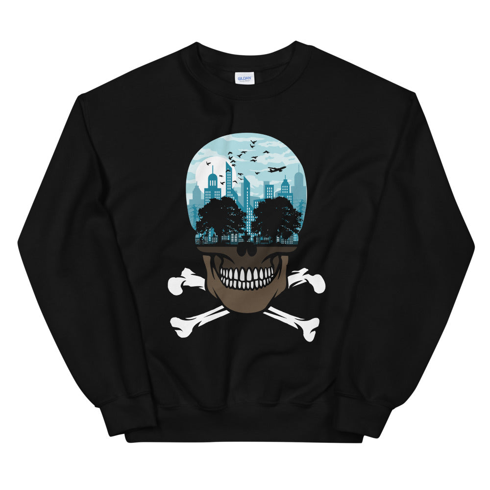 The city of death mockup Front Flat on Black sweatshirt from teexpression
