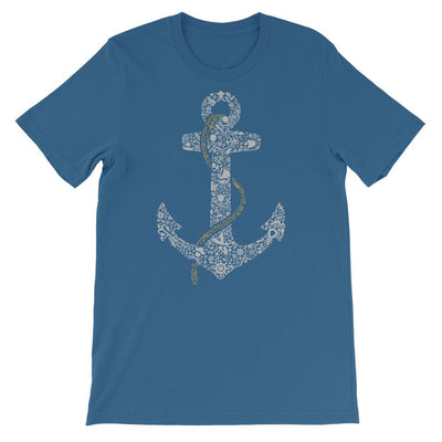 Anchor design on Steel Blue flat