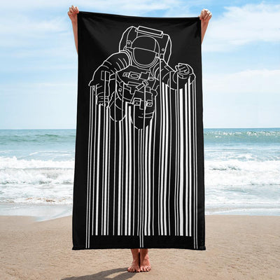 Astrocode Sublimated Beach Towel, a woman holding beach towel in the beachTeexpression