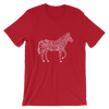 Bone striped Zebra in Red t-shirt