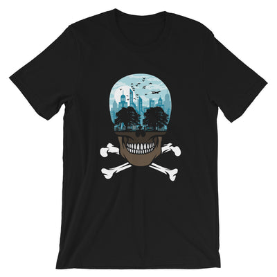The city of death mockup Front Flat Black from teexpression