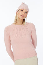 Possum Silk Merino Heart Yoke Jumper in Veneta Pink