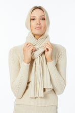Possum Silk Merino Heart Yoke Jumper in Ivory