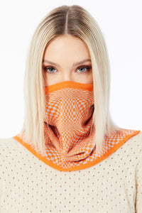 Snood Savvy Orange Chessboard