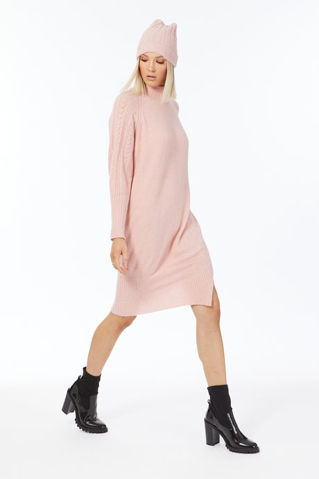 HEART SLEEVE DRESS IN POSSUM SILK MERINO WOOL