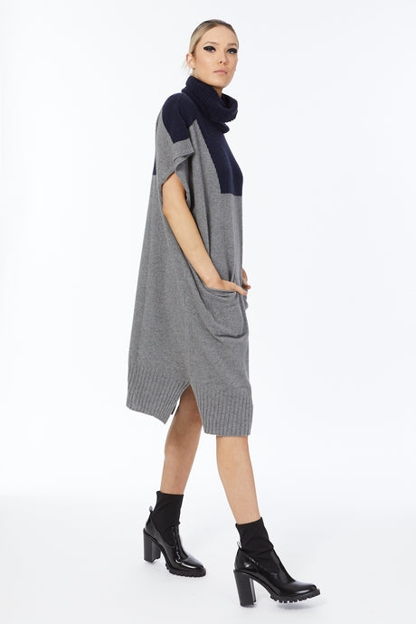 Cashmere Possum Silk End Point Tunic with a Snood