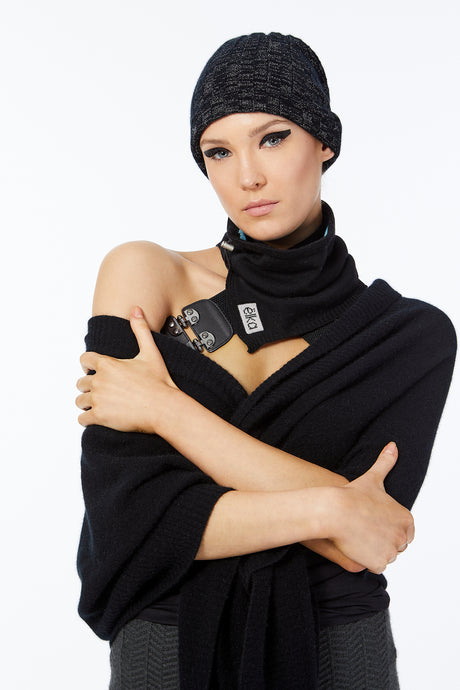 Snood Savvy Black Silk