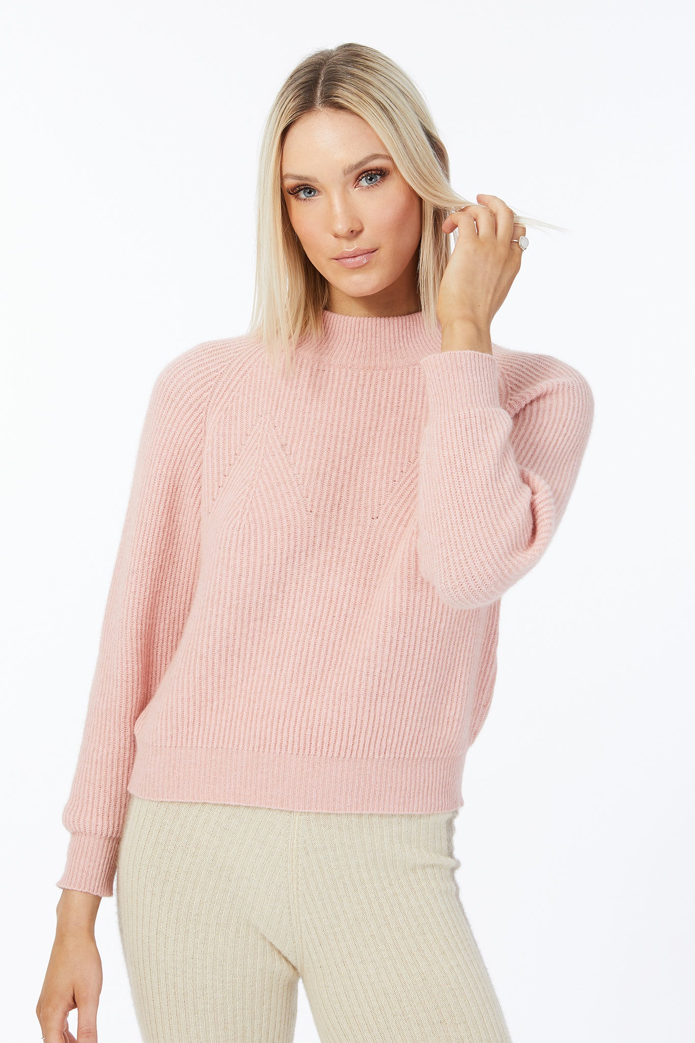 Possum Silk Merino Zoe Jumper in Veneta Pink