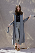 Long Vest in Pewter