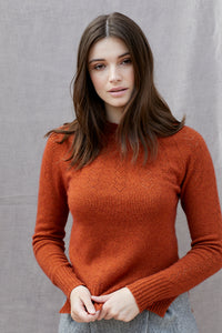 Heart Yoke Jumper in Persimmon