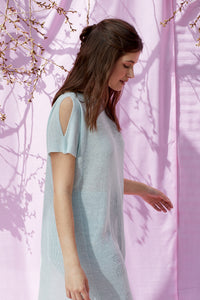 Linen Knit Flower Tunic