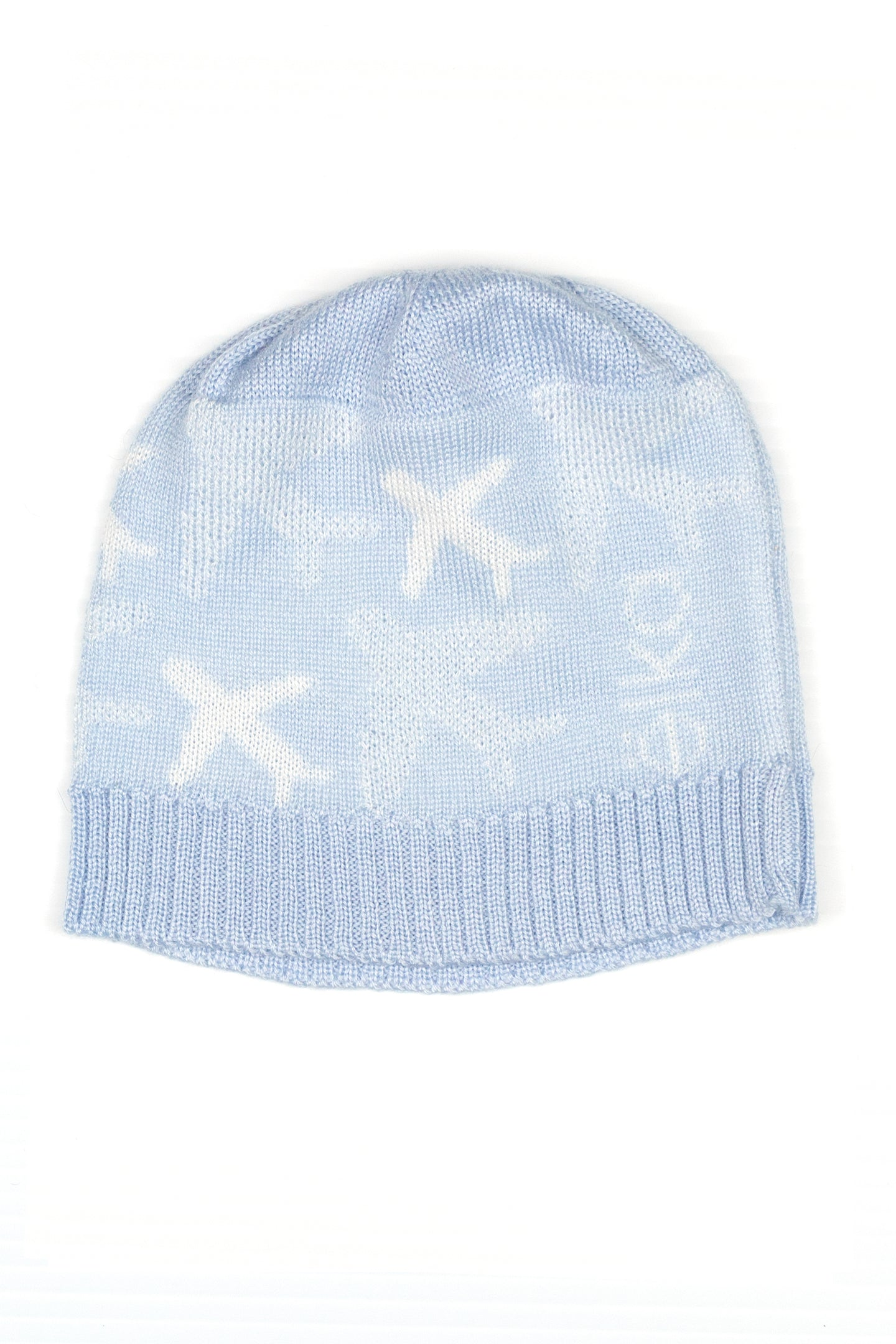 Merino and Silk Baby Beanie in Blue