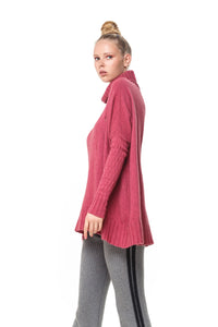 POSSUM SILK MERINO LACE TUNIC in Rose