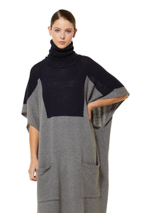 CASHMERE POSSUM END POINT TUNIC WITH RIBBED NECK