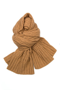 Possum Silk Merino Pashmina in Camel