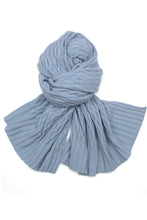 Possum Silk Lace Pashmina Glacier Blue