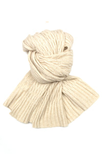 Possum Silk Merino Pashmina in Ivory