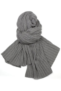 Possum Silk Lace Pashmina in Pewter