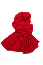 Possum Silk Lace Pashmina in Scarlet Red
