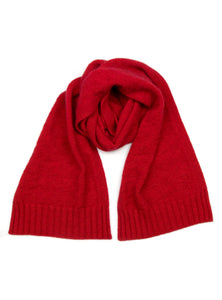 Possum Silk Houndstooth Scarf Red