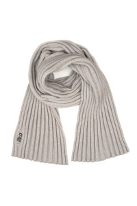 CASHMERE RIB TEXTURE SCARF in Dove and Silver