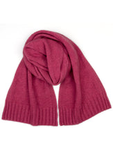 Possum Silk Houndstooth Scarf Rose