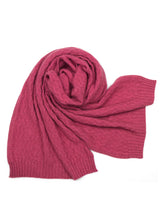 Possum Silk Merino Ziggi Scarf in Rose