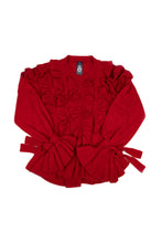 Possum Silk Merino Vola Tux Top in Red