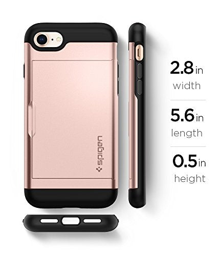 brand new 61a27 4964d Spigen Slim Armor CS iPhone 7 Case/iPhone 8 Case with Slim Dual Layer  Wallet Design and Card Slot Holder for Apple iPhone 7 (2016) / iPhone 8  (2017) - ...