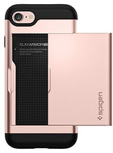 Spigen Slim Armor CS iPhone 7 Case/iPhone 8 Case with Slim Dual Layer Wallet Design and Card Slot Holder for Apple iPhone 7 (2016) / iPhone 8 (2017) - Rose Gold