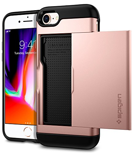 brand new 6a4eb 1e2c3 Spigen Slim Armor CS iPhone 7 Case/iPhone 8 Case with Slim Dual Layer  Wallet Design and Card Slot Holder for Apple iPhone 7 (2016) / iPhone 8  (2017) - ...