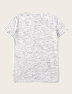 #Heart T-shirt Grey