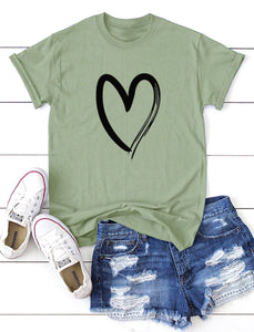 #Heart T-shirt Green