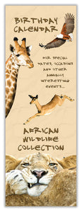 Birthday Calendar - African Wildlife Collection