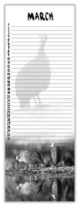 Birthday Calendar - Nature in Black and White