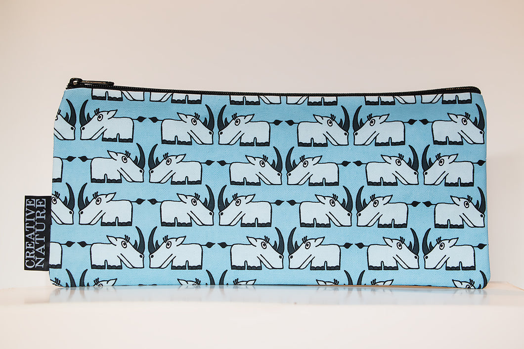 Long Pencil Bag | Curious Creatures | Blue Rhino