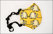 Face Mask - Curious Elephant - Yellow