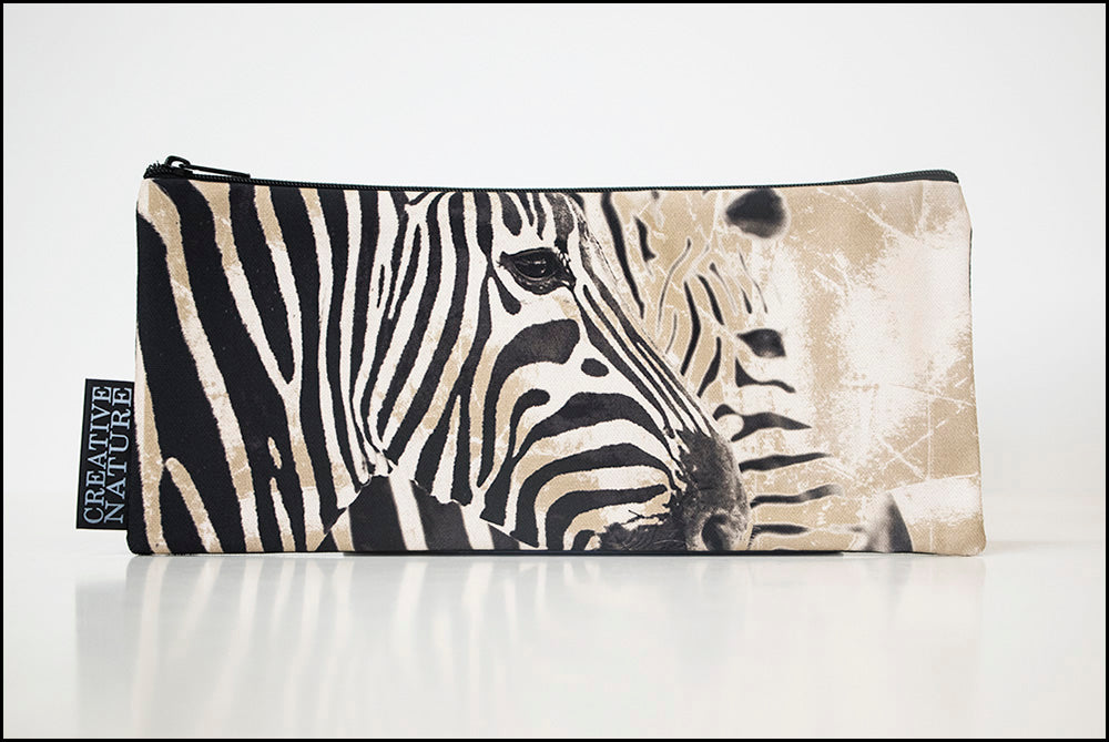 Long Pencil Bag KHA06 Two Zebras