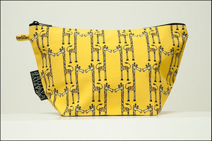 Triangle Toiletry Bag | Curious | Yellow Giraffe