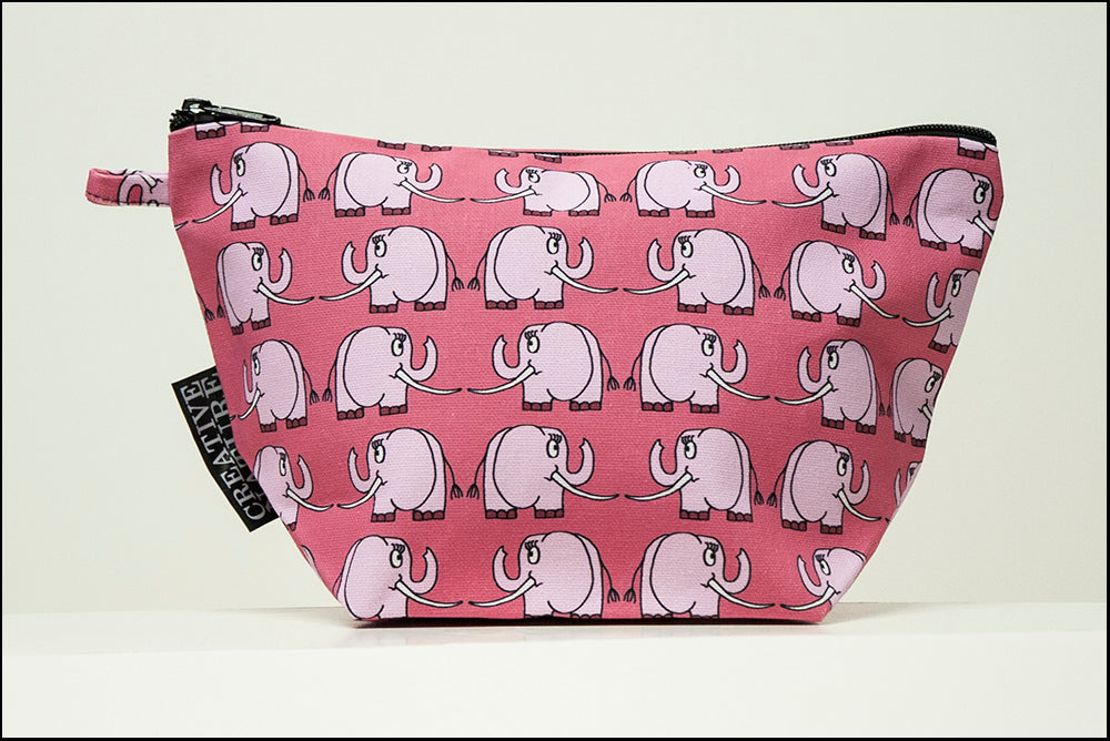Triangle Toiletry Bag | Curious | Pink Elephant