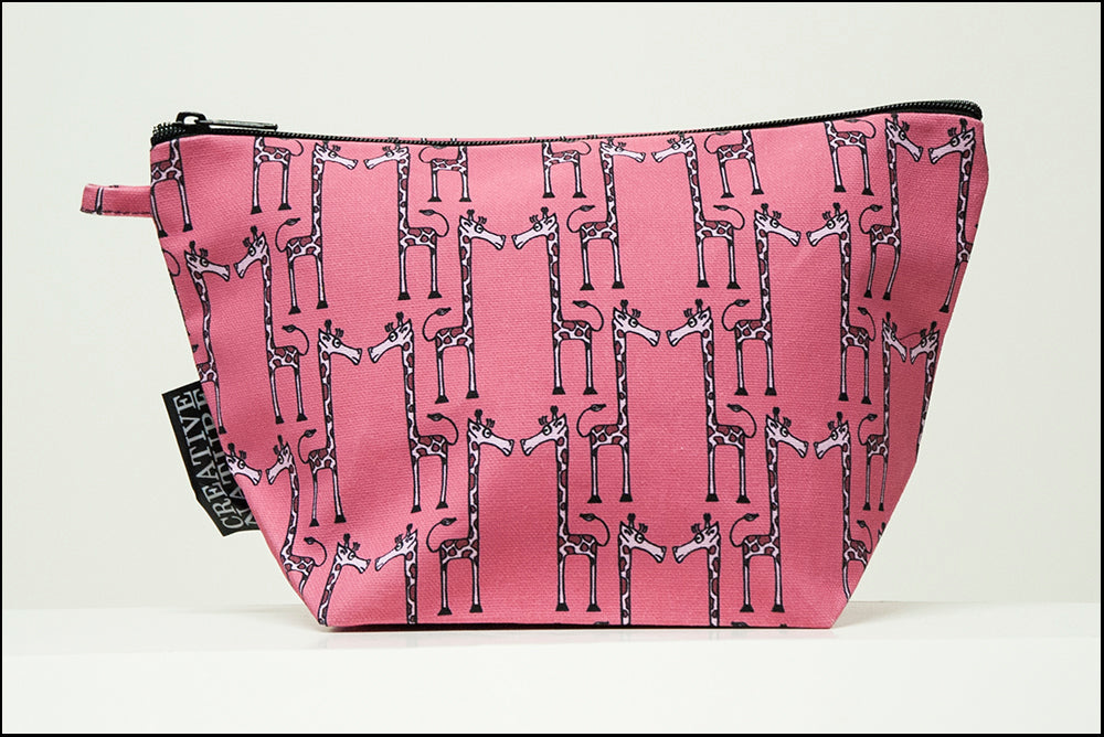 Triangle Toiletry Bag | Curious | Pink Giraffe