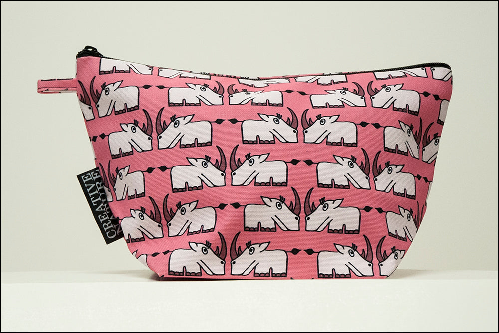 Triangle Toiletry Bag | Curious | Pink Rhino