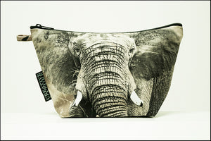 Triangle Toiletry Bag Khaki 07 Elephant
